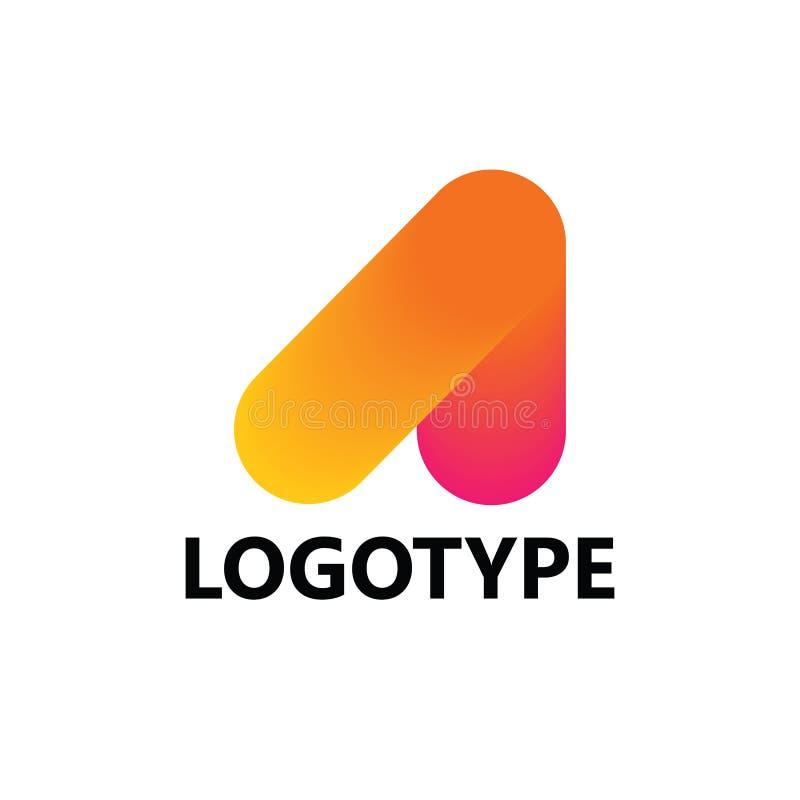 Beschriften Sie a-Logoikone, Schablonenelemente zu entwerfen lizenzfreie stockfotografie