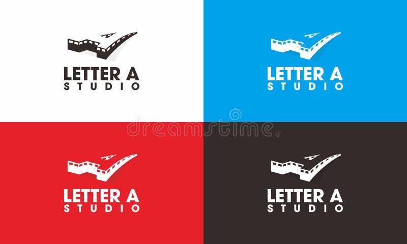 Beschriften Sie a-Studio Logo stockbild