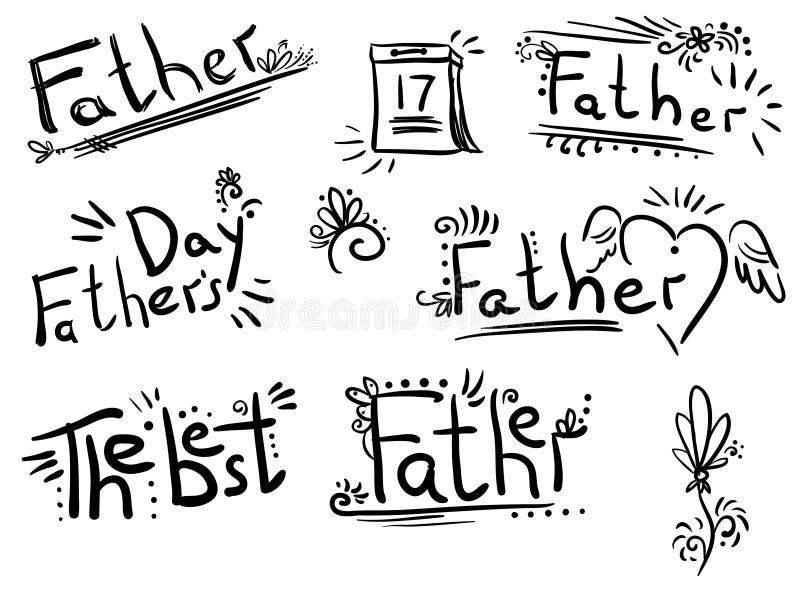 Beschriften - Wörter Vater ` s Tag vektor abbildung