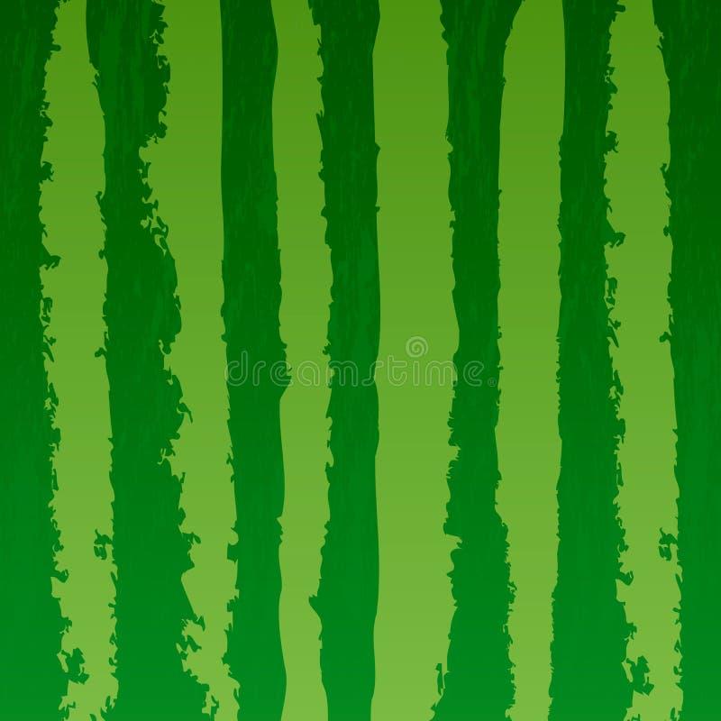 Beschriftet realistischer Beschaffenheitshintergrund der Wassermelone Vektorillustration lizenzfreie abbildung