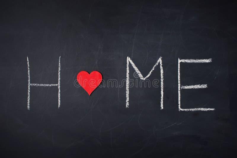 Beschriftung auf Haupt- und roter Form der Tafel - des Herzens stockbilder