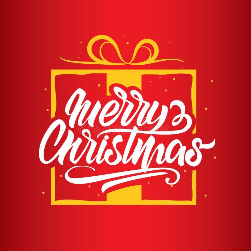 Beschriftung der frohen Weihnachten Gl?ckliches neues Jahr typographie Logo oder Fahnen, Grußkarten, Geschenke - Vektor vektor abbildung