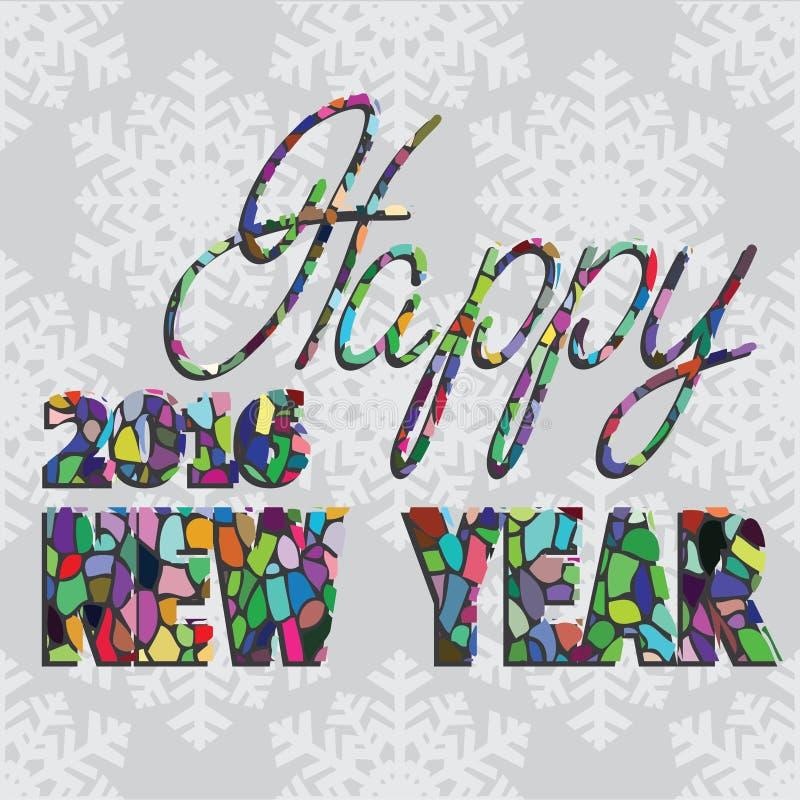Beschriftung neuen Jahres PrintHappy Hand lizenzfreie abbildung