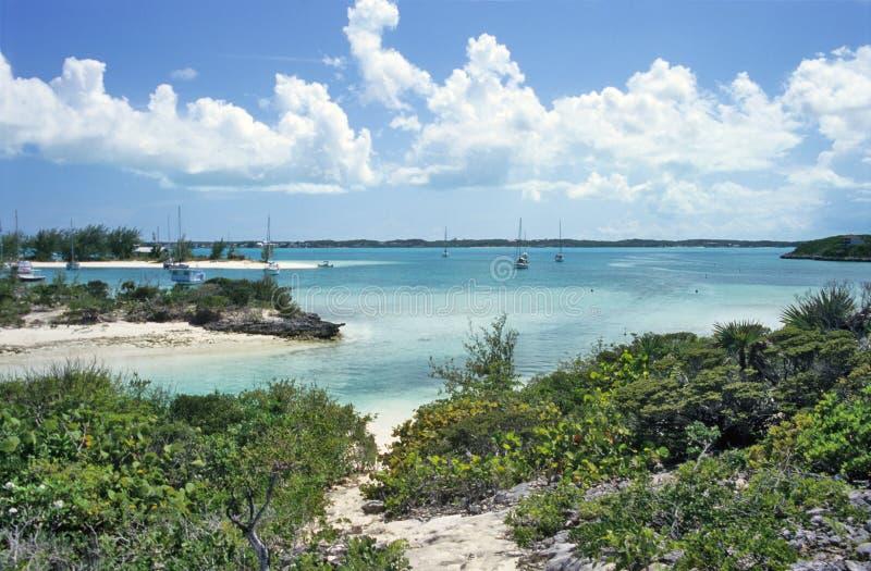Beschutte Tropische Haven stock afbeelding