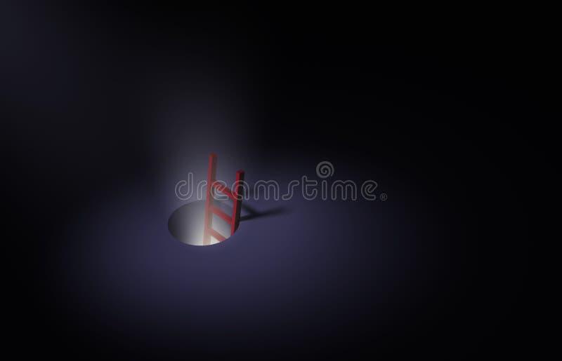Besegra kaninen spela golfboll i hål vektor illustrationer