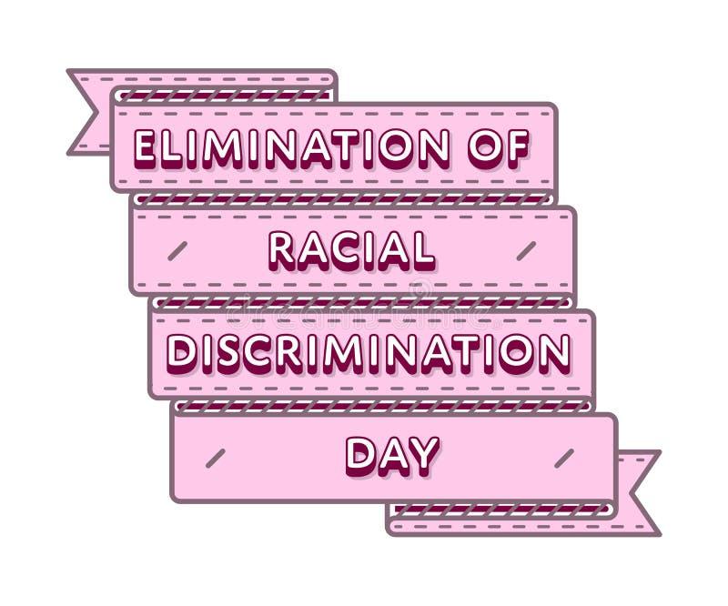 Beseitigung des Rassendiskriminierungstagesemblems lizenzfreie abbildung