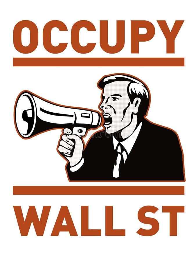 Besetzen Sie Street-Amerikaner-Arbeitskraft stock abbildung