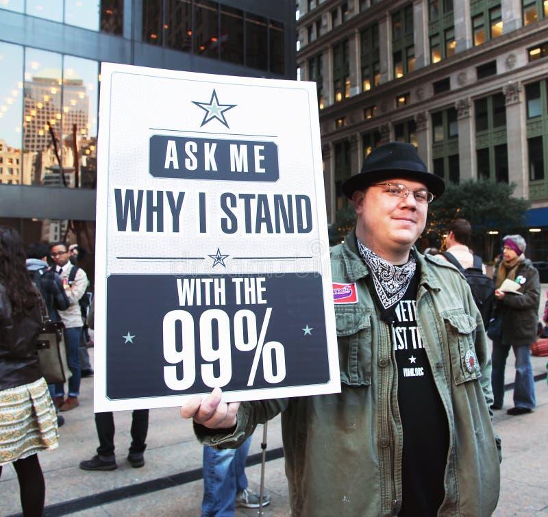 Besetzen Sie Street-Protest stockbild