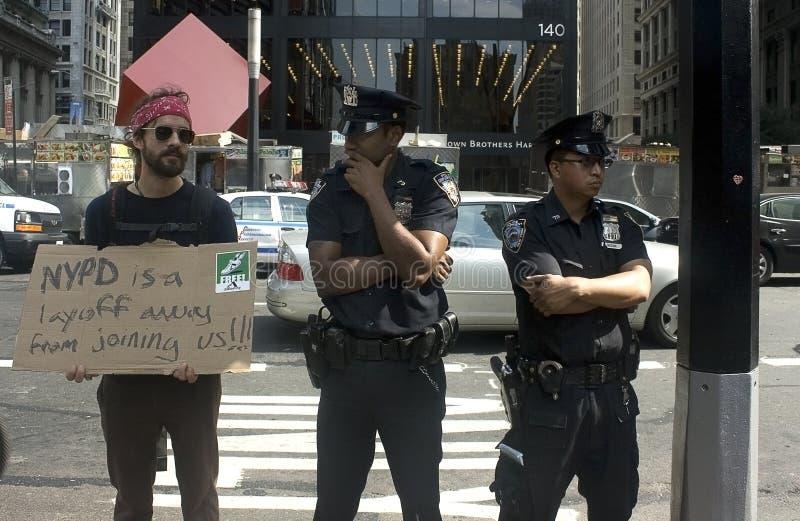 Besetzen Sie Wall Street. stockfoto