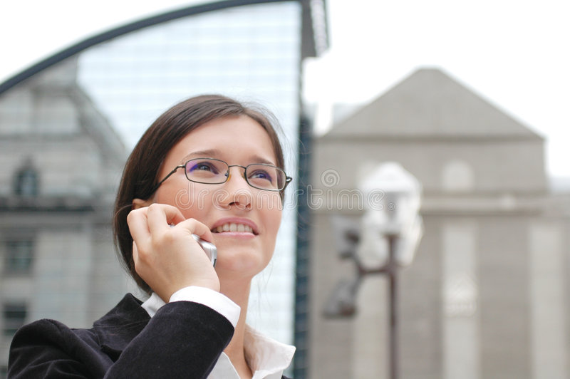 Besetzte Frau stockfoto