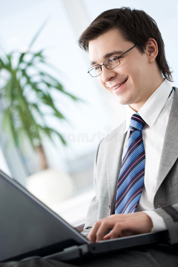 Besetzter Manager lizenzfreies stockbild