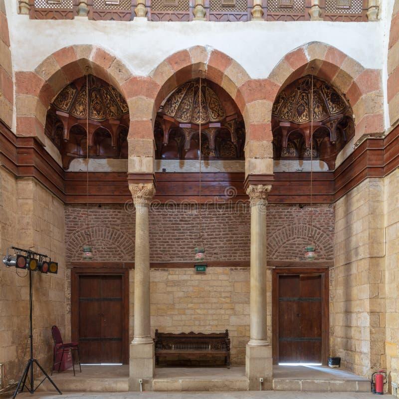 Beshtak pa?ac, antyczny historyczny pa?ac budowa? w Mamluk erze, lokalizowa? w Muizz ulicie, Gamalia okr?g, Kair, Egipt zdjęcia stock