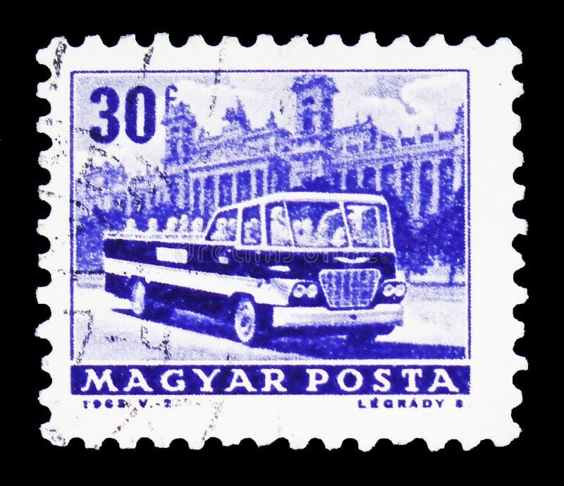 Besichtigungsbus, Transport und Telekommunikation serie, circa 1963 lizenzfreie stockbilder