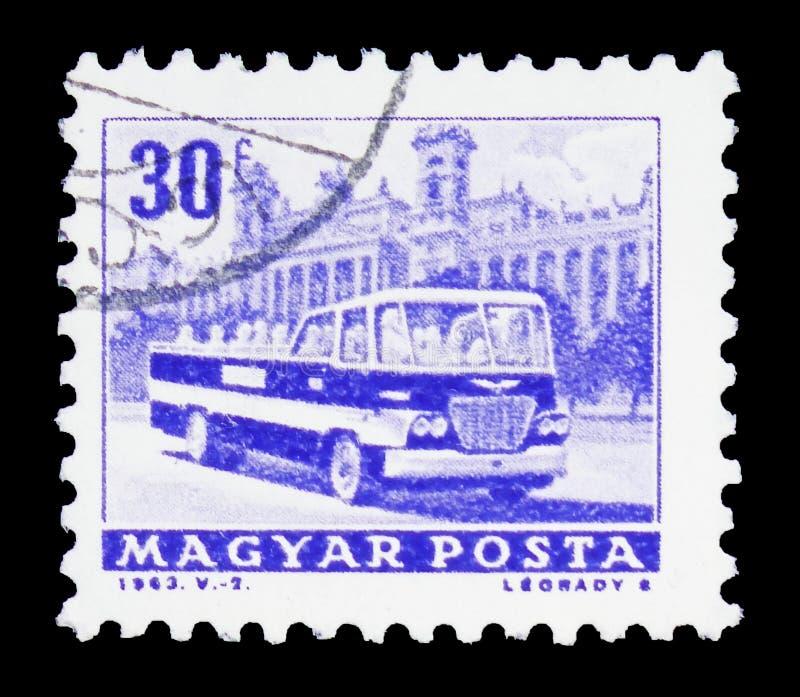 Besichtigungsbus, Transport und Telekommunikation serie, circa 1963 lizenzfreie stockfotos