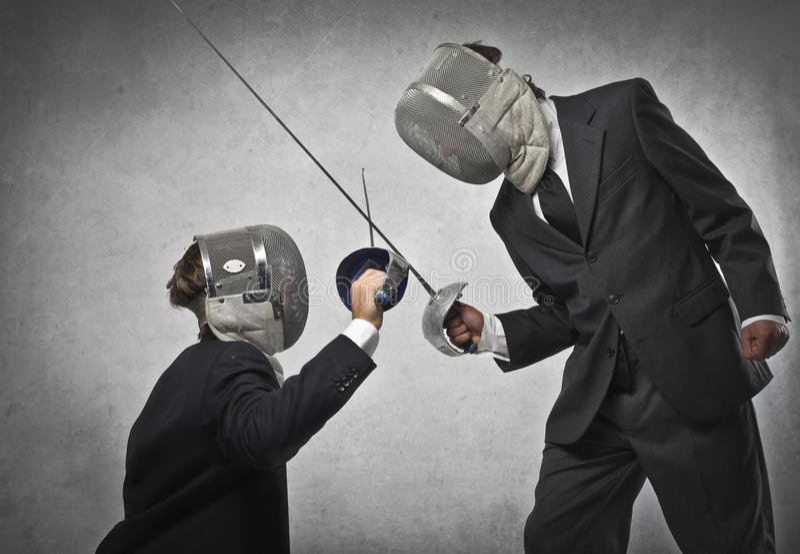 Besiegen der Rivalen stockfotos