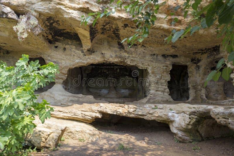 Besikli Magara Turkisk betydelse: Besikli grotta i Samandag, Hatay - Turkiet fotografering för bildbyråer