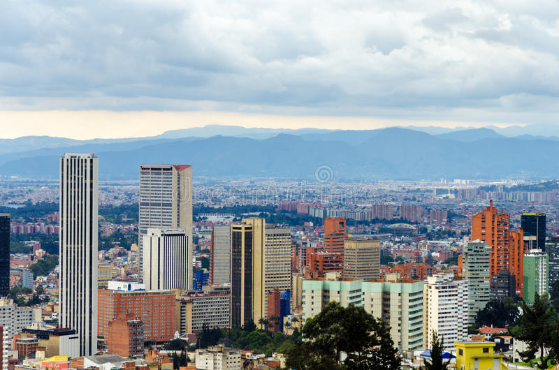 Bogota Colombia horisont arkivbild