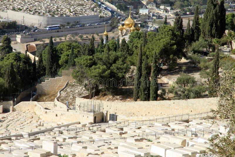 Beskåda av staden av Jerusalem Israel royaltyfri foto