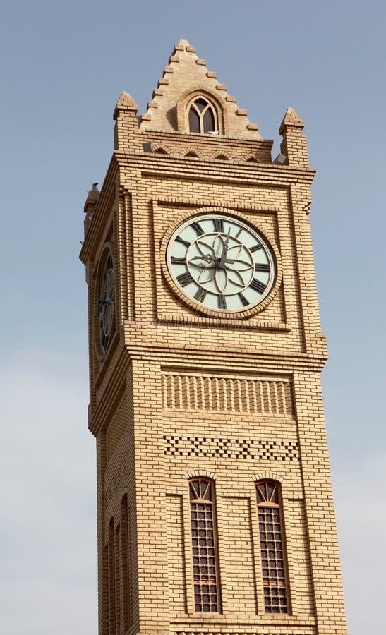 Ta tid på står hög i Erbil, Irak. royaltyfria foton