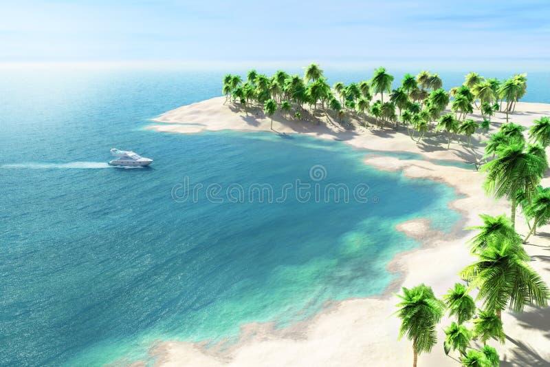 Atollen bakgrund, stranden, blått som är ljus, seglar utmed kusten, färgrikt, begreppet, dagen, drömmen, njutningen, lagunen, frit royaltyfria bilder