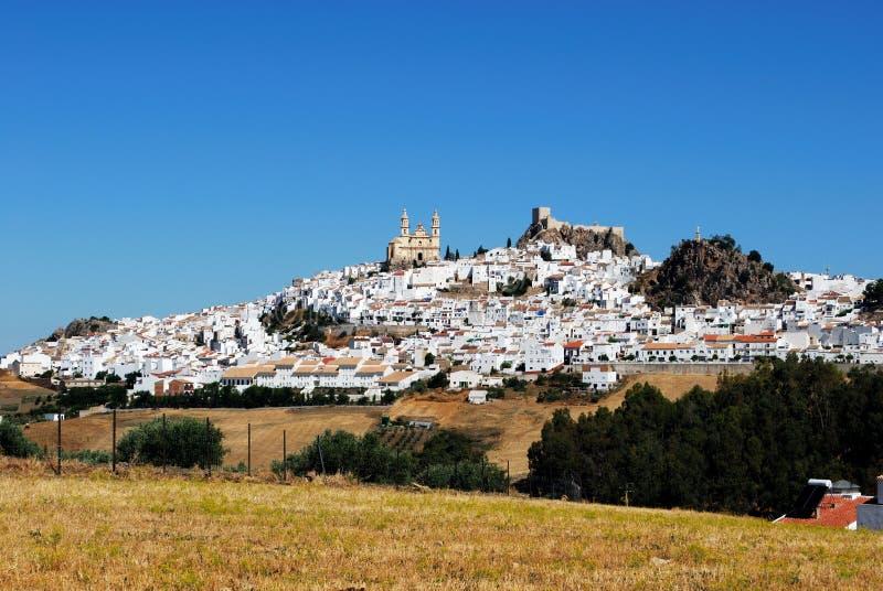 Vittown, Olvera, Andalusia, Spanien. royaltyfria bilder