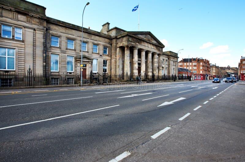 Cityscape av Glasgow, Skottland royaltyfri bild