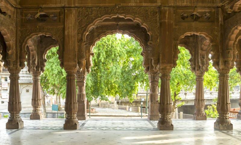 Beskåda från inre av krishnapurachhatrisindore, Indien royaltyfria foton