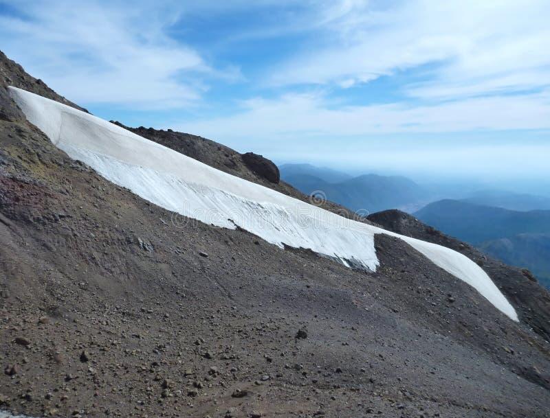 Beskåda uppifrån av toppiga bergskedjan nevadokant i chile arkivbilder
