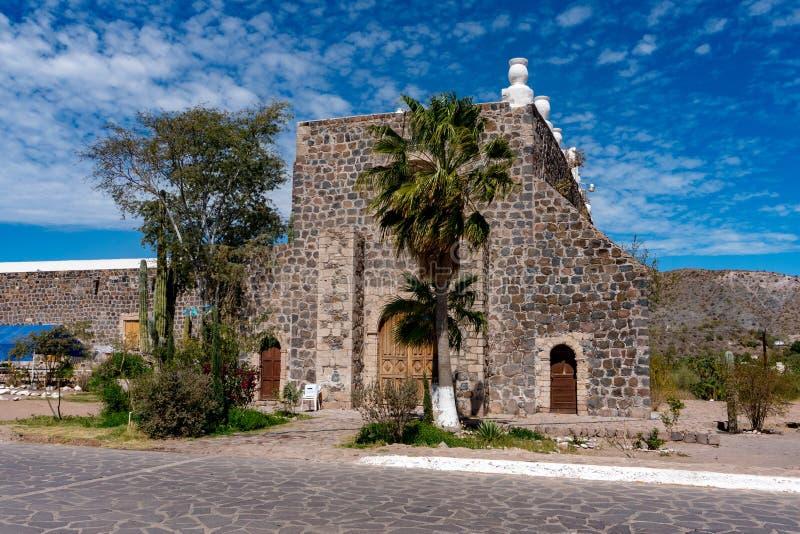 Beskickning av Santa Rosalia Baja California Sur royaltyfri fotografi