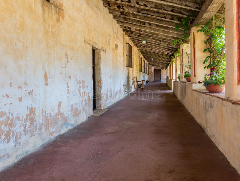 Beskickning Carmel, veranda arkivbild