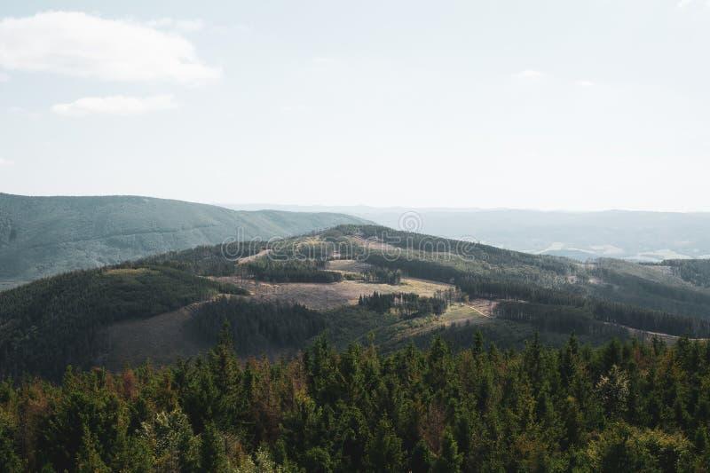 Beskid mountains, Czech Republic / Czechia - ladscape royalty free stock images