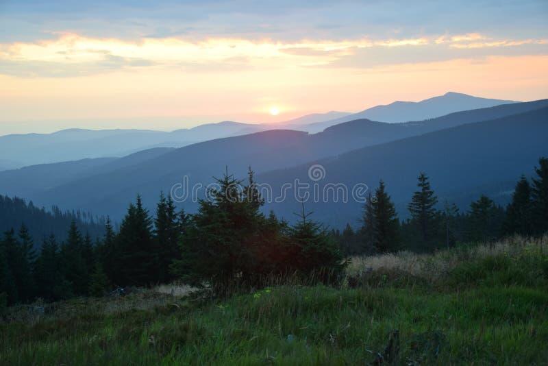 Beskid-Polnisch-Berge stockbilder