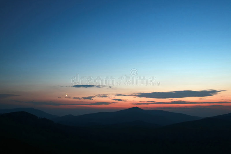 beskydy βουνά vesper στοκ εικόνα με δικαίωμα ελεύθερης χρήσης