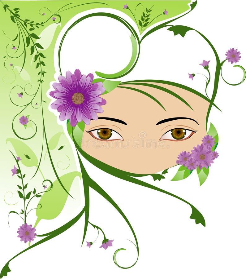 beslöjad kvinna vektor illustrationer