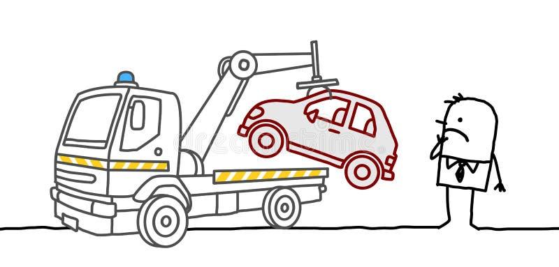 Beslagtagen bil stock illustrationer