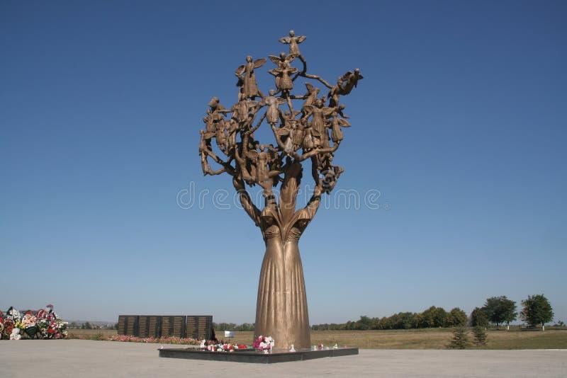 Beslan, arbre de la douleur photos libres de droits