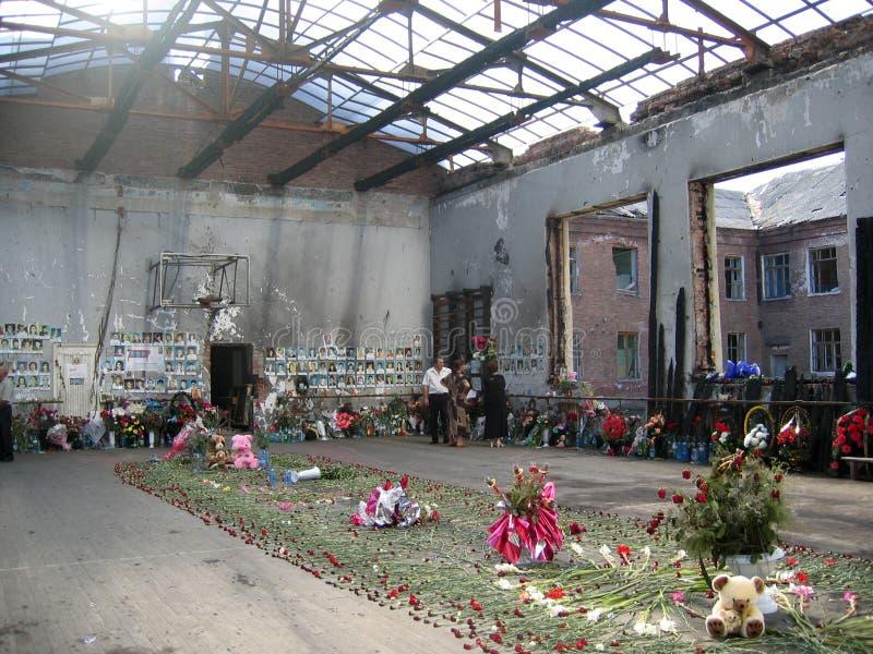 Beslan-Schule stockfotografie