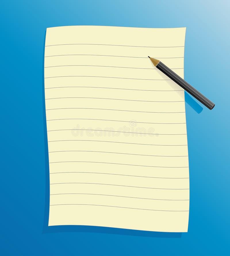 Beslist document met potlood stock illustratie