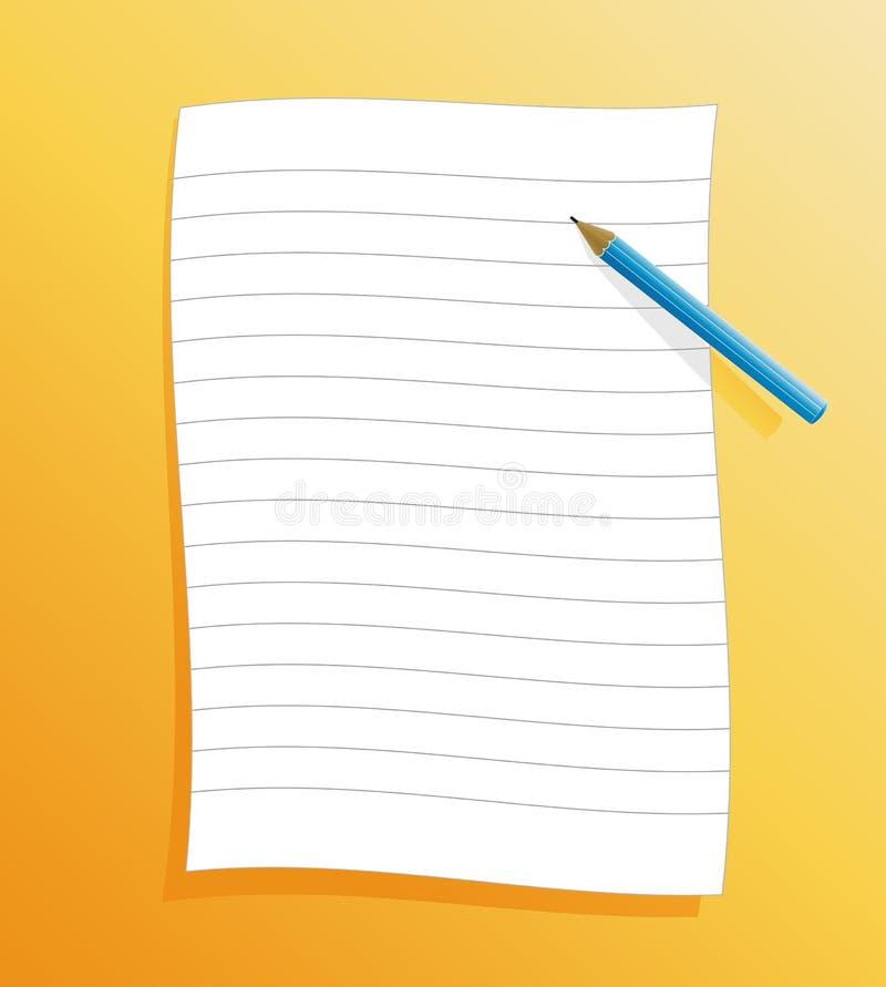 Beslist document met potlood vector illustratie
