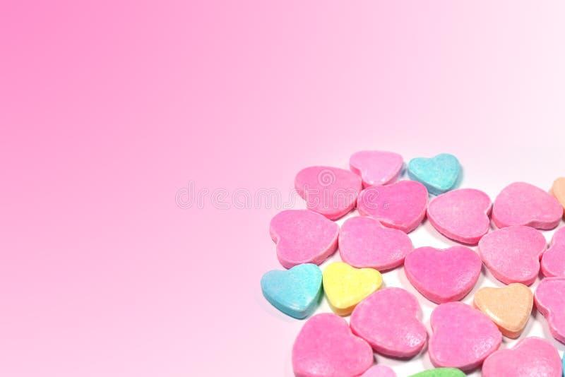 Besloten omhoog groep kleurrijk liefdesuikergoed stock fotografie