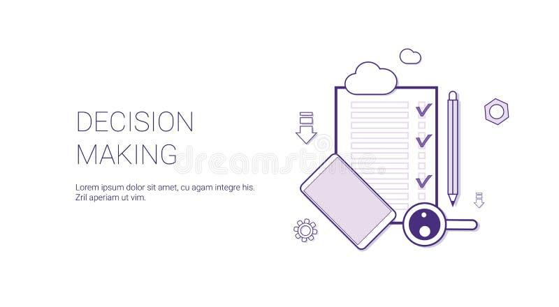 Besluit die - Webbanner met Concept van de Exemplaar het Ruimtebedrijfseconomie maken vector illustratie