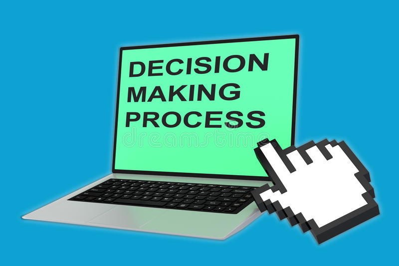 Besluit - makend procesconcept stock illustratie