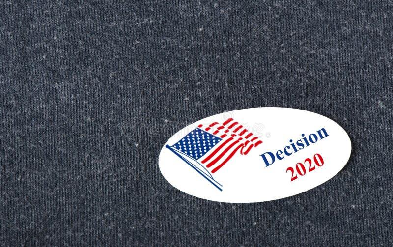 Besluit 2020 Sticker betreffende overhemd royalty-vrije stock afbeeldingen