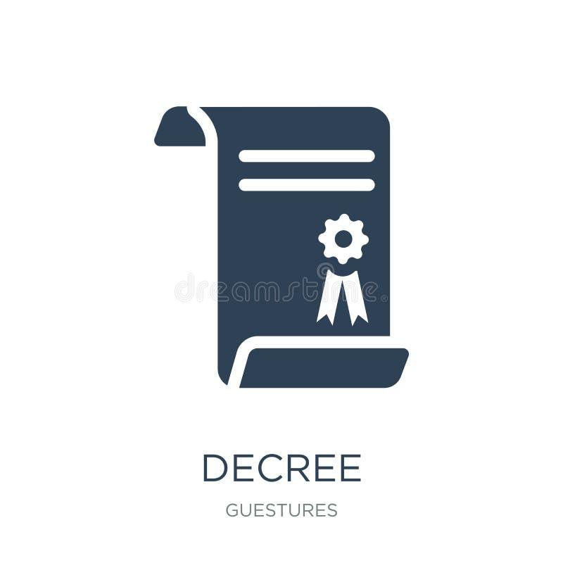 besluitpictogram in in ontwerpstijl Besluitpictogram op witte achtergrond wordt geïsoleerd die eenvoudige en moderne vlakke symbo stock illustratie