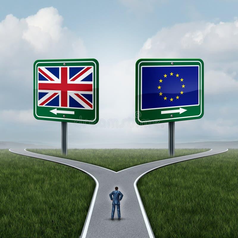 Beslut Britannien för europeisk union royaltyfri illustrationer
