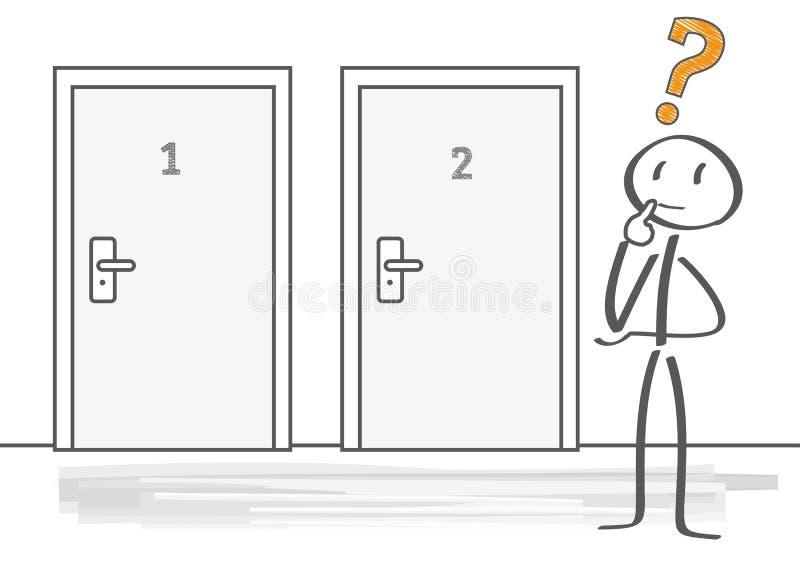 Beslutsfattande stock illustrationer