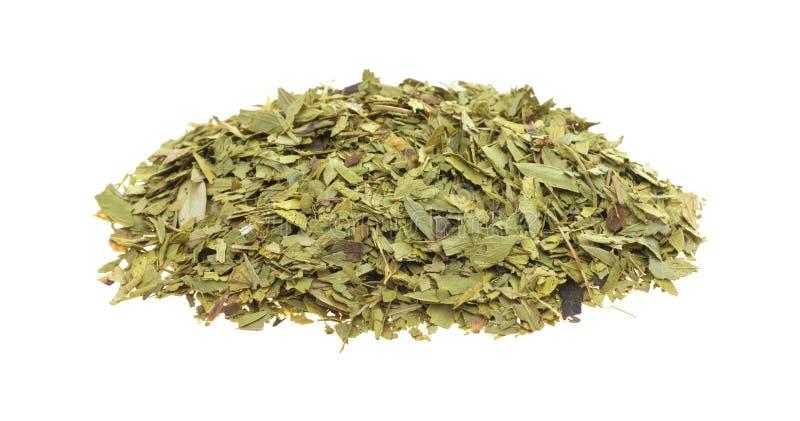 Besnoeiing en gezift droog seneplantblad stock foto