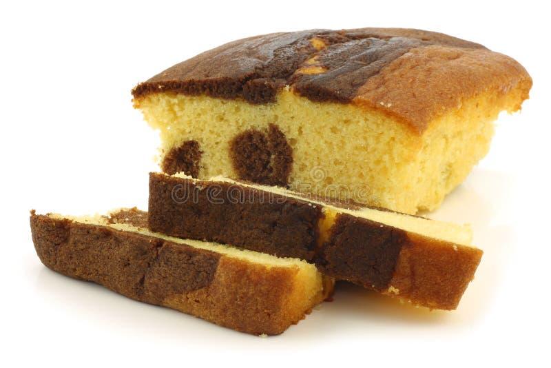 Besnoeiing marmerchocolade en biscuitgebak royalty-vrije stock afbeeldingen