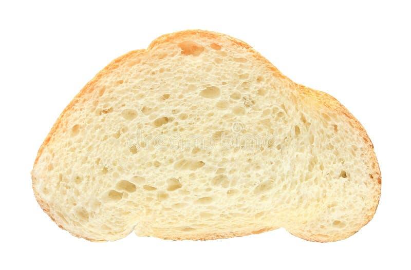 Besnoeiing van de brood de witte die plak op witte achtergrond met het knippen van weg wordt ge?soleerd stock foto's