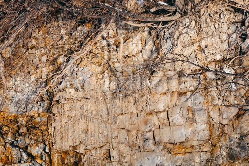 Besnoeiing van de rots en de grond van de aarde royalty-vrije stock afbeelding